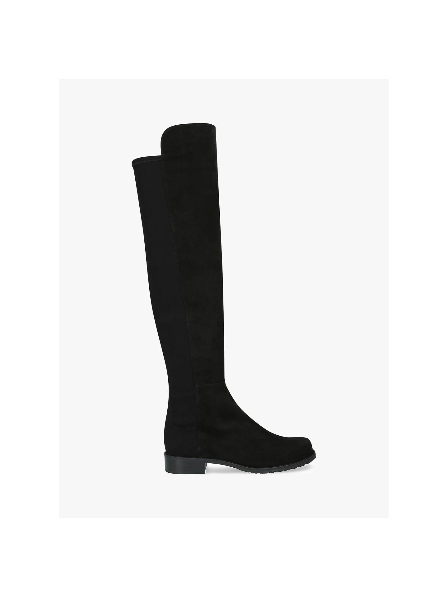 b31b501e90c1 Buy Stuart Weitzman 50:50 Block Heel Knee High Boots, Black Suede, 2 ...