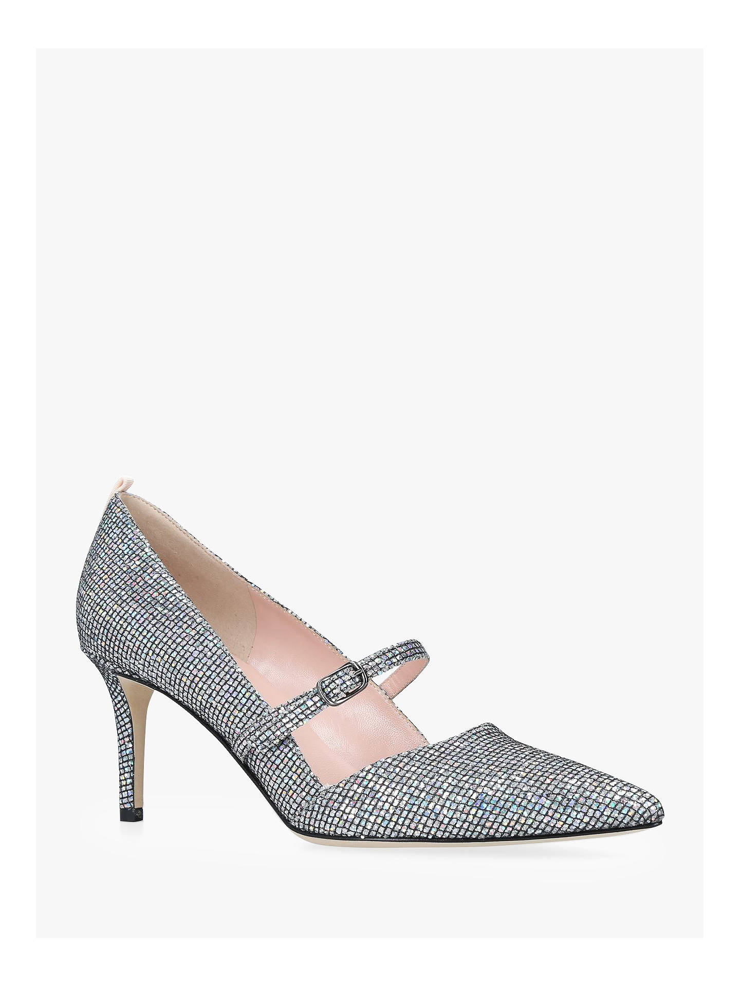 BuySJP by Sarah Jessica Parker Nirvana Court Shoes, Silver, 2 Online at johnlewis.com