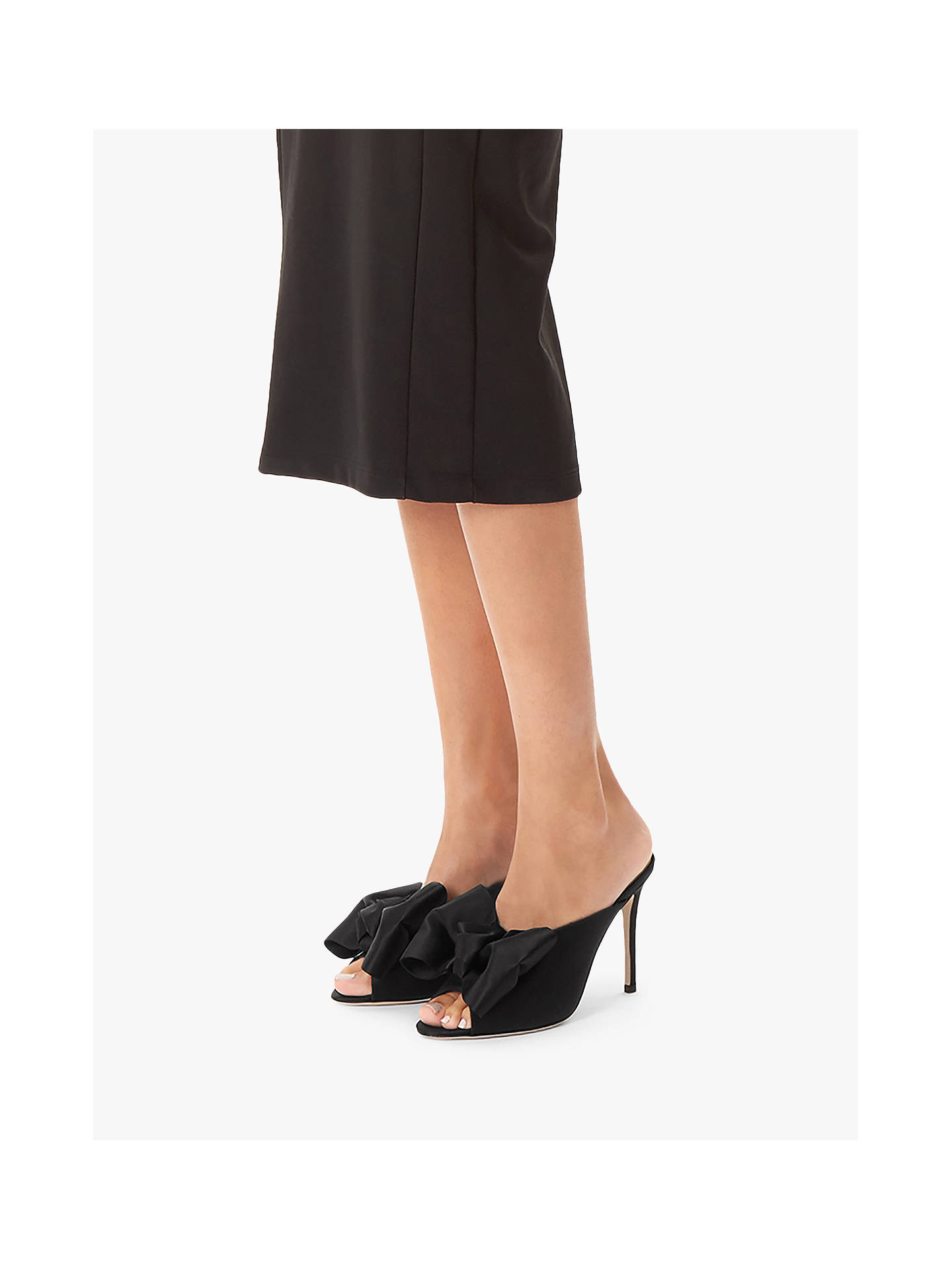 BuySJP by Sarah Jessica Parker Vesper Peep Toe Heeled Sandals, Black, 2 Online at johnlewis.com