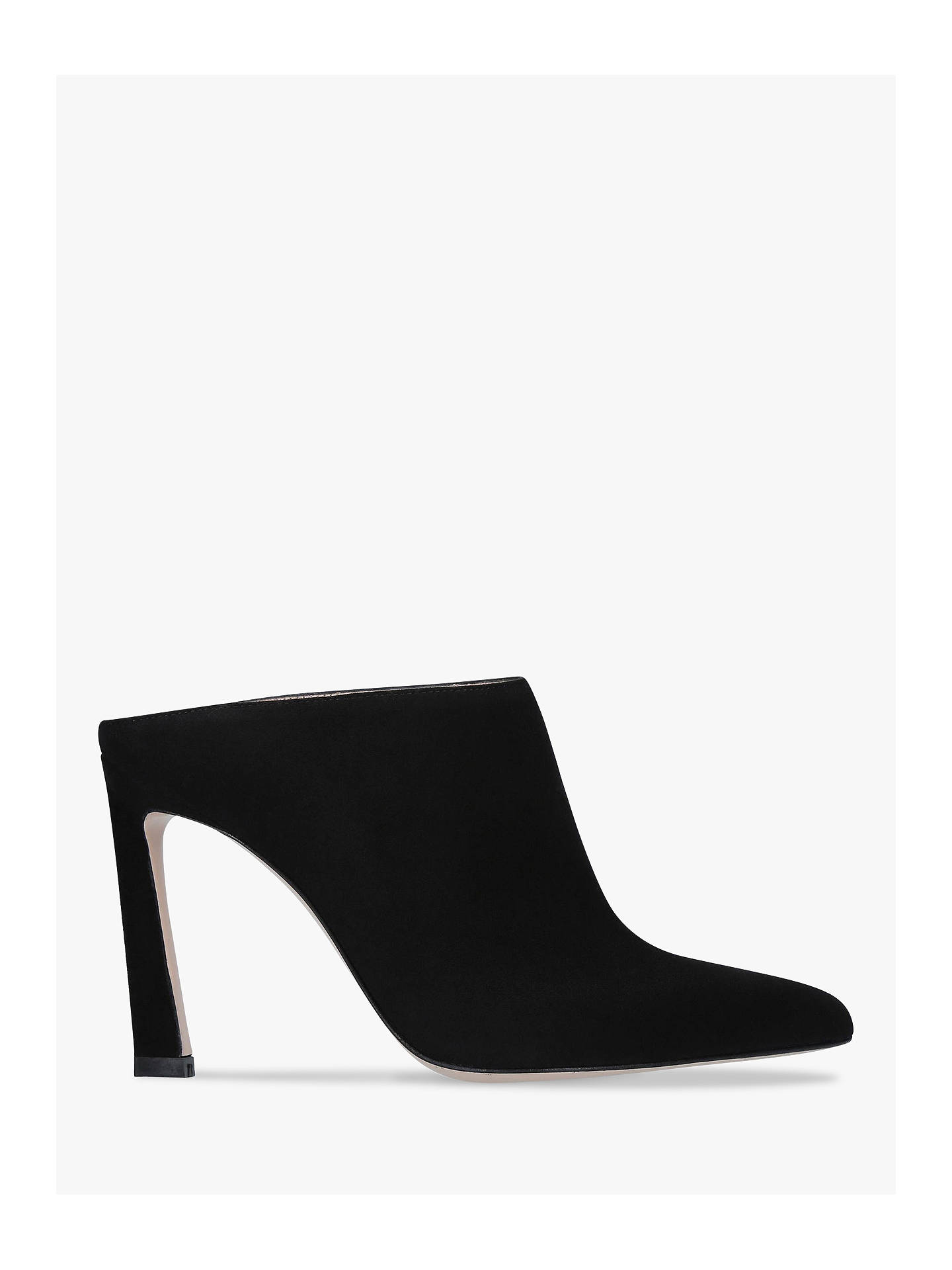Buy Stuart Weitzman Camila Stiletto Heel Mules, Black Suede, 2 Online at johnlewis.com