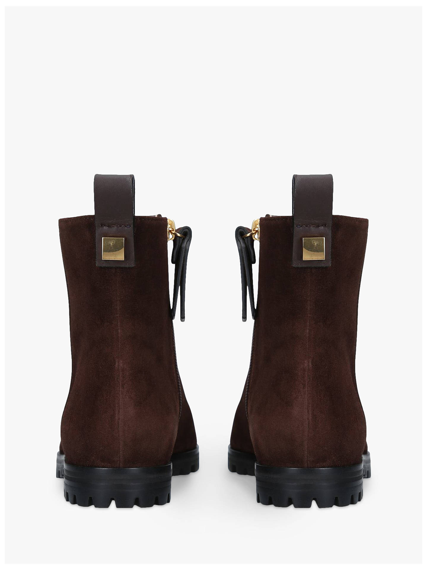 Buy Stuart Weitzman Riley Flat Ankle Boots, Brown Suede, 2 Online at johnlewis.com