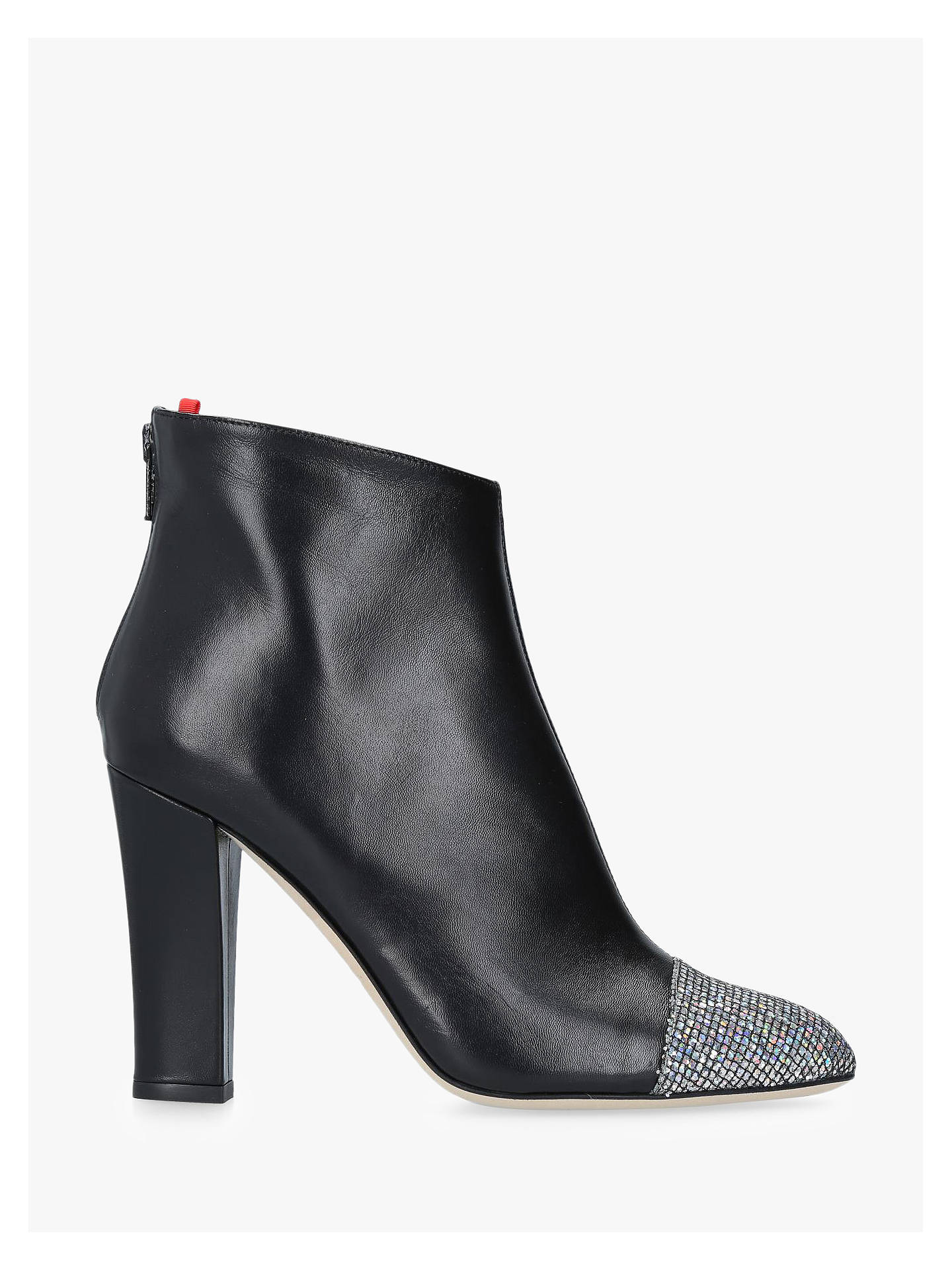 Buy SJP by Sarah Jessica Parker Rumi Glitter Toe Ankle Boots, Black Leather, 2 Online at johnlewis.com