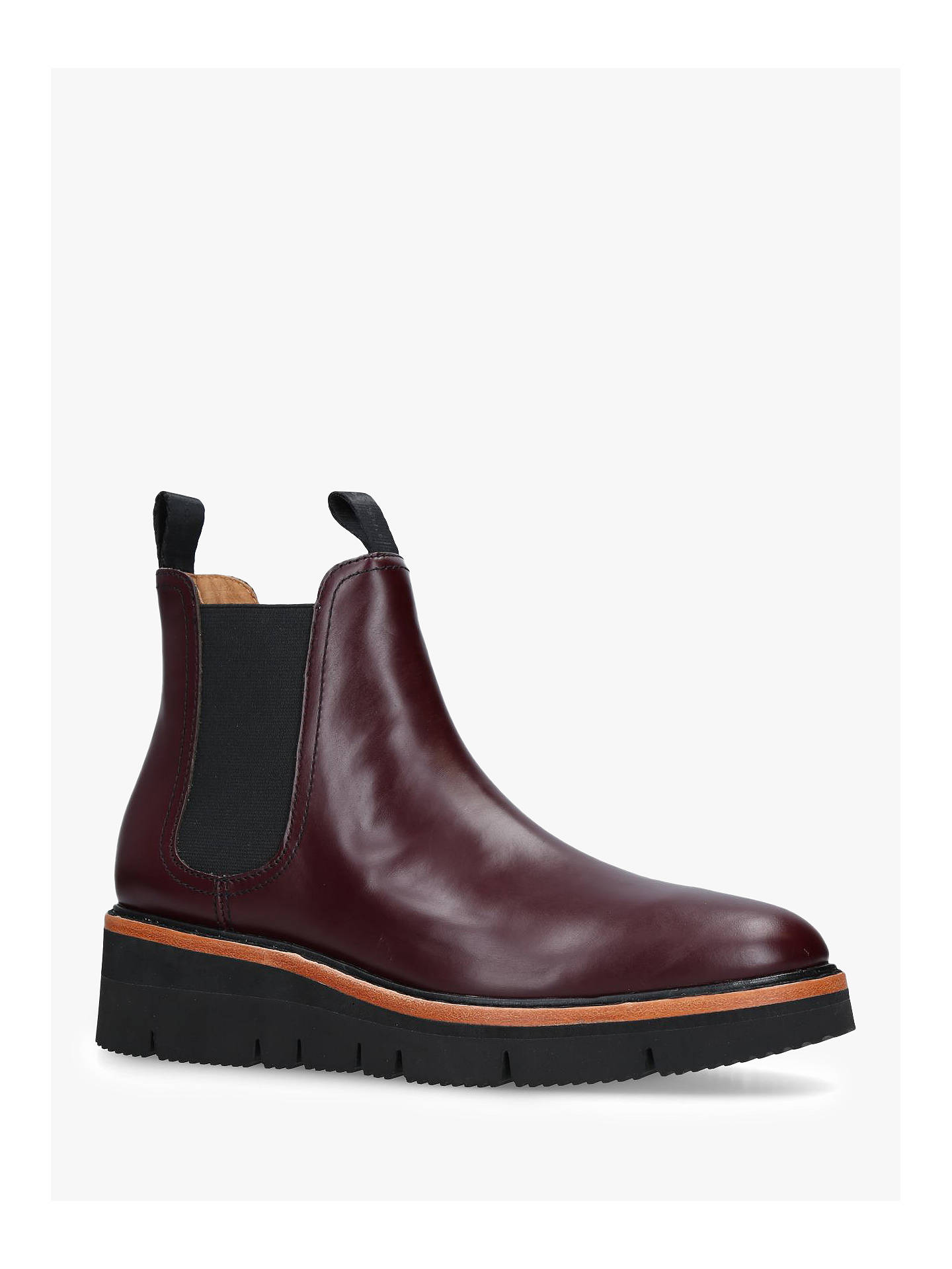 Buy rag & bone Taryn Flatform Pull On Ankle Boots, Wine Leather, 3.5 Online at johnlewis.com