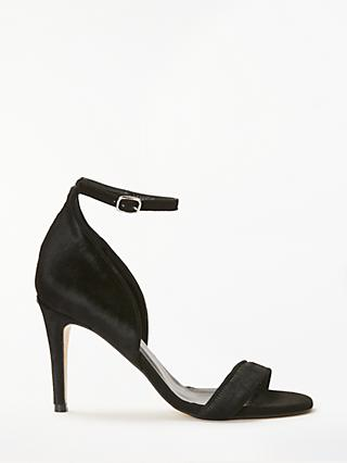 John Lewis & Partners Bianca Stiletto Heel Sandals, Black Hair