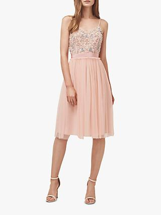 French Connection Genoa Short Dress, Light Venetian Pink