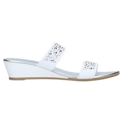 Carvela Comfort Sage Wedge Heel Mule Sandals, White