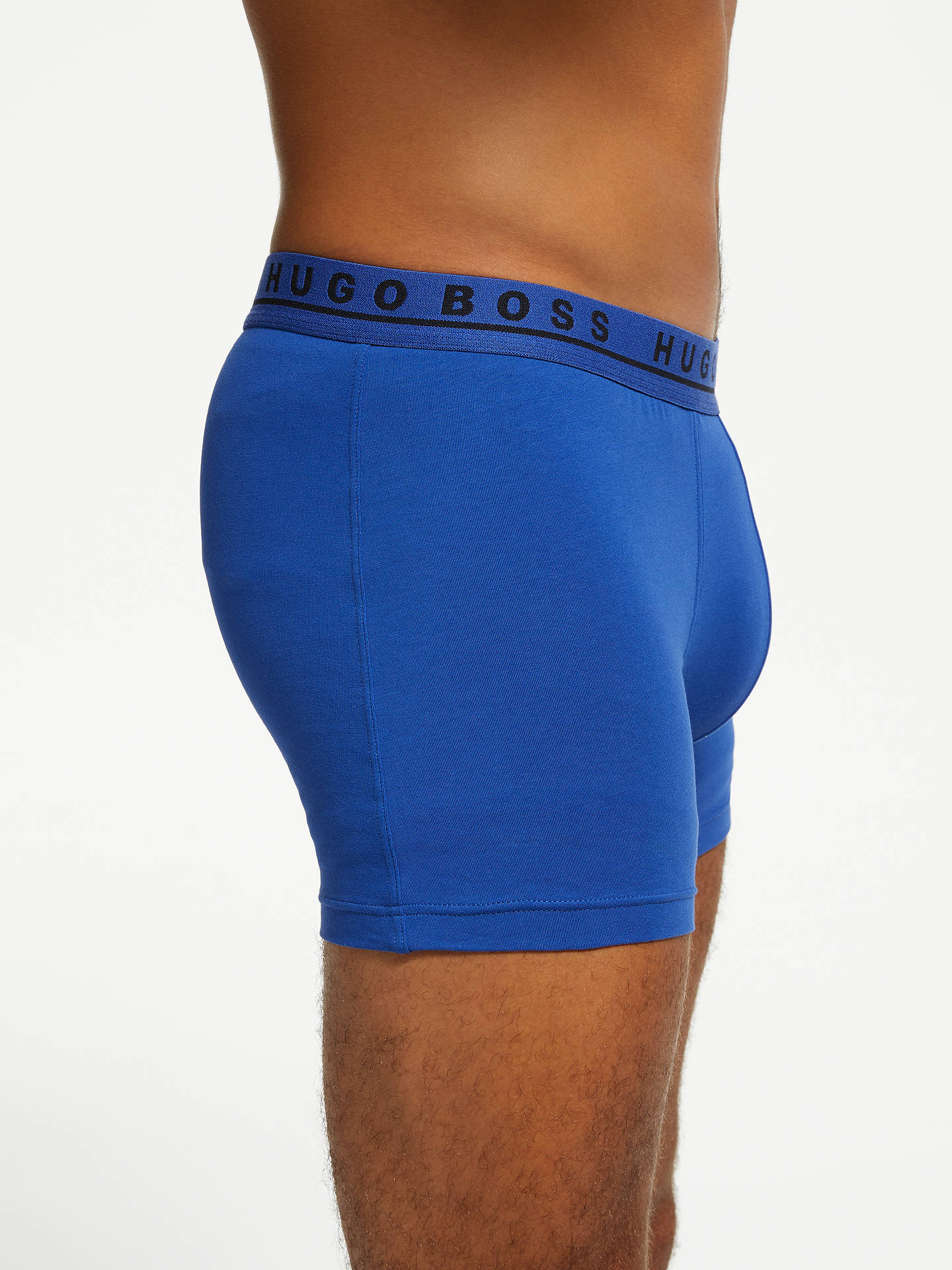 BuyBOSS Stretch Cotton Trunks, Pack of 3, Navy/Grey/Blue, S Online at johnlewis.com