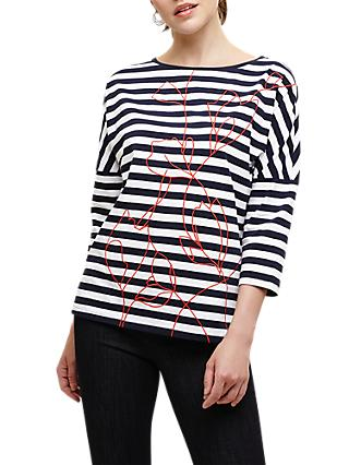 deabf296669a Phase Eight Ethel Emrboidered Stripe Top