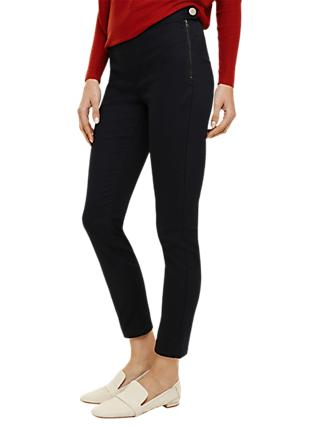Phase Eight Amina Darted Jeggings, Charcoal