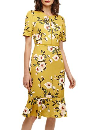 Phase Eight Hilary Floral Dress, Chartreuse