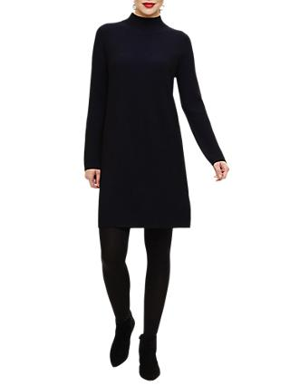 Phase Eight Ronnie Rib Tunic Dress, Black