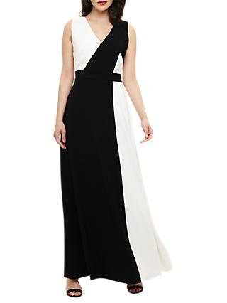 Phase Eight Dionne Contrast Maxi Dress, Black/Ivory