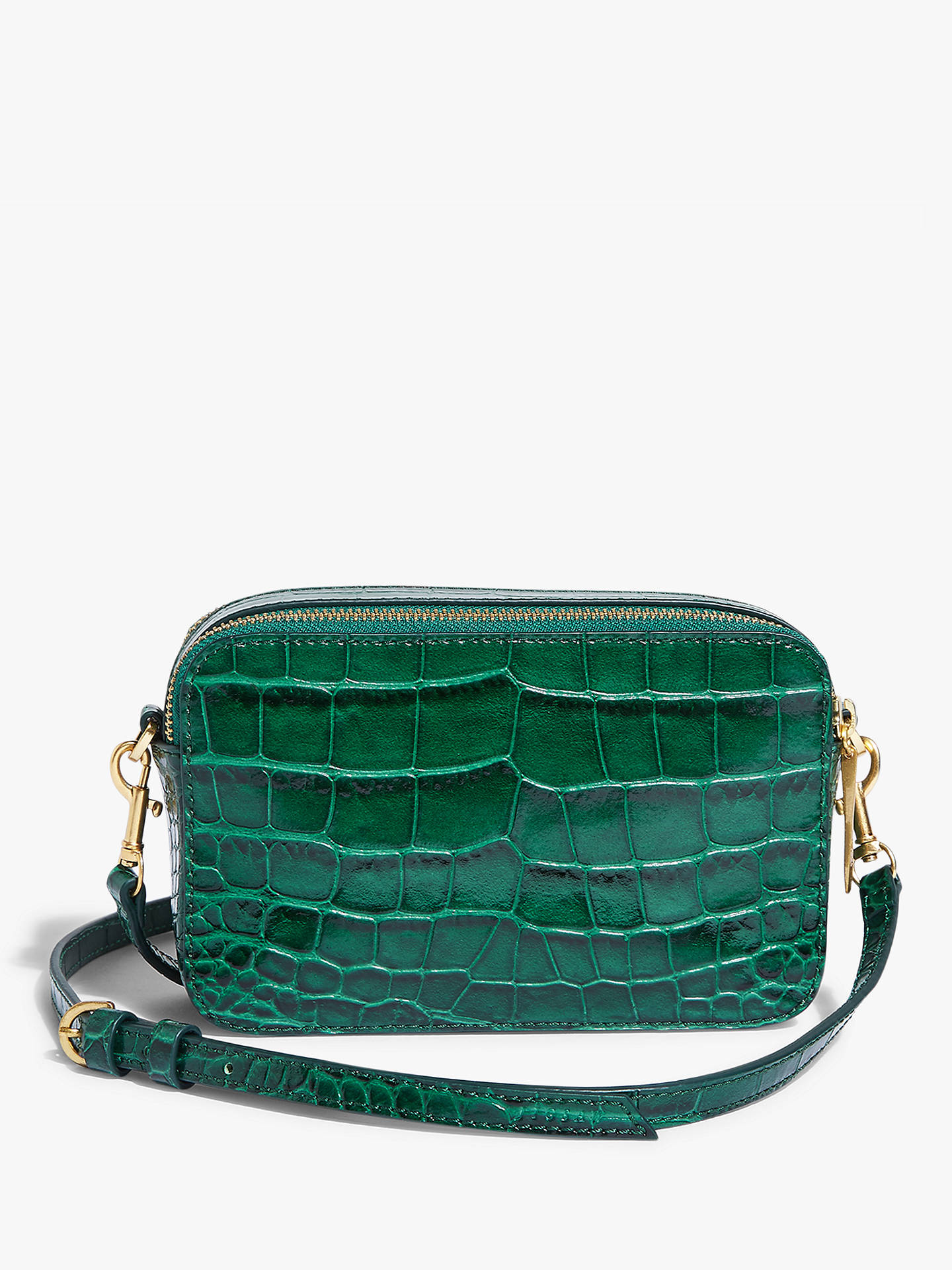 Jigsaw Wren Croc Leather Cross Body Bag at