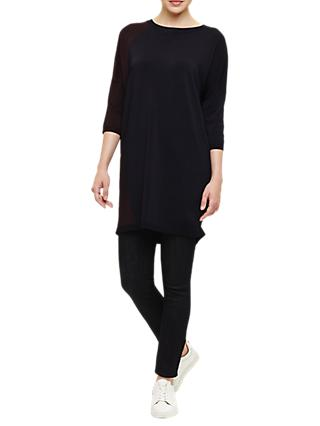 Phase Eight Mariyah Matt And Shine Knit Tunic, Navy Port