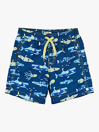 Hatley Boys' Submarine Print Swimming Shorts, Blue