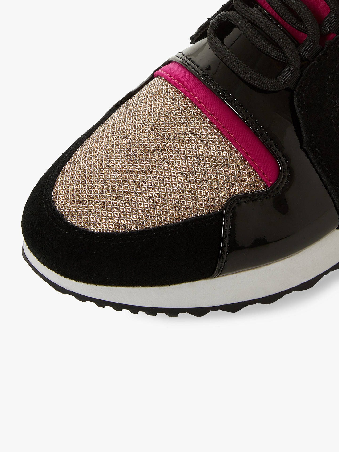 10dd27147618 ... Buy Dune Eavie Lace Up Trainers, Leopard Multi, 5 Online at  johnlewis.com ...