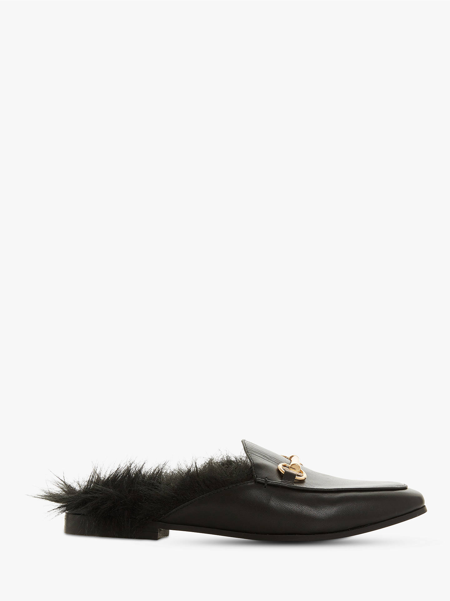 a6e198a906f Dune Geness Faux Fur Backless Loafers at John Lewis   Partners