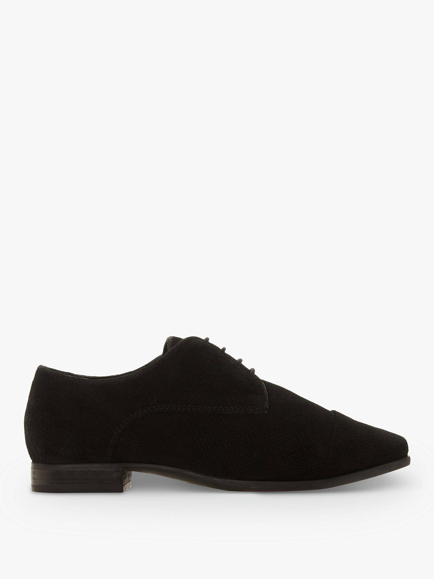 1bd4a55e60397 Buy Dune Wide Fit Fentan Lace Up Casual Shoes, Black Suede, 3 Online at ...