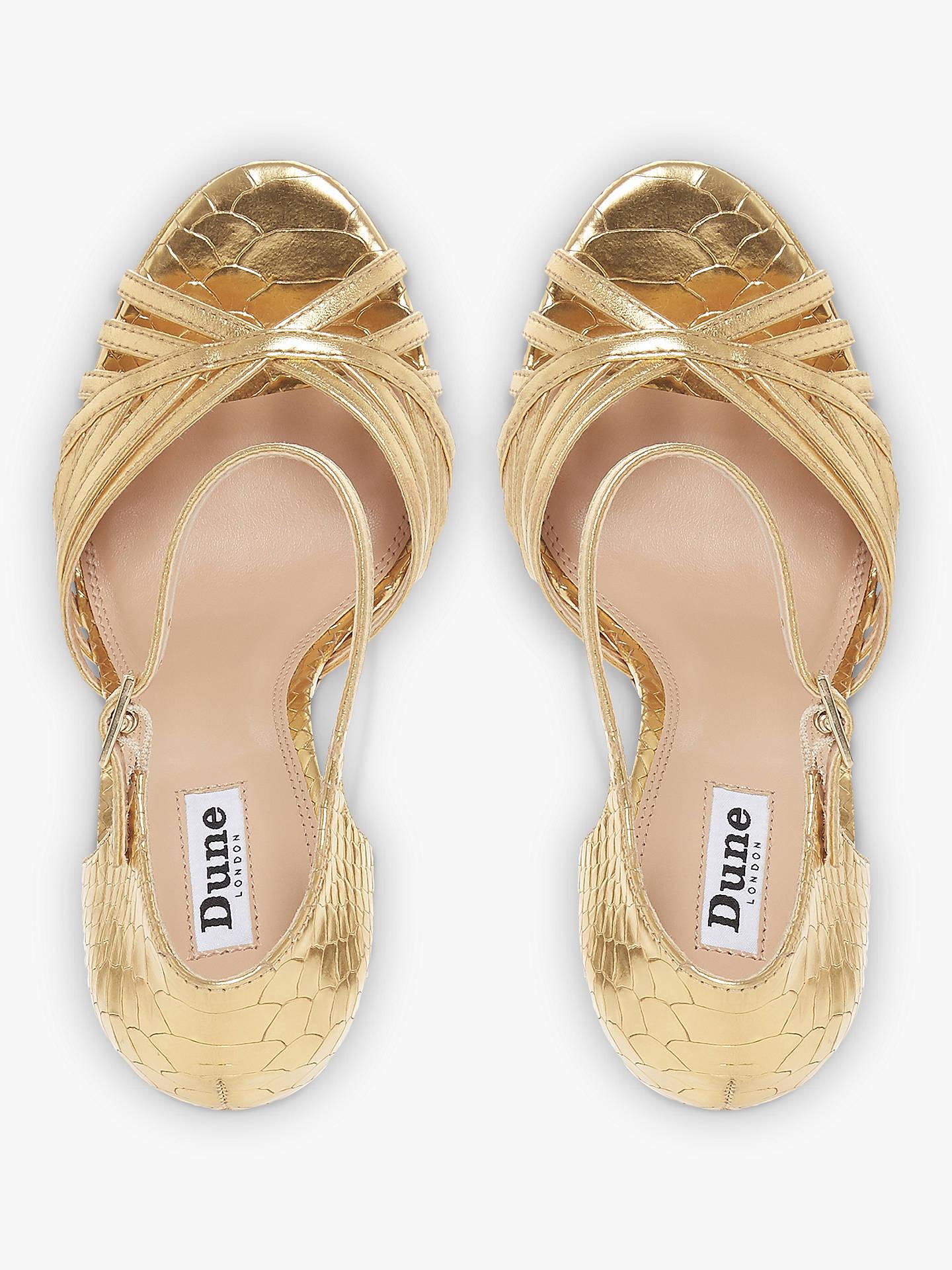 5775c93f130 Dune Madisonn Block Heel Platform Sandals at John Lewis   Partners