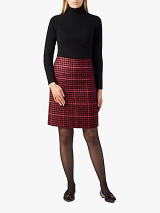 Pure Collection Dogtooth A-Line Skirt , Orange