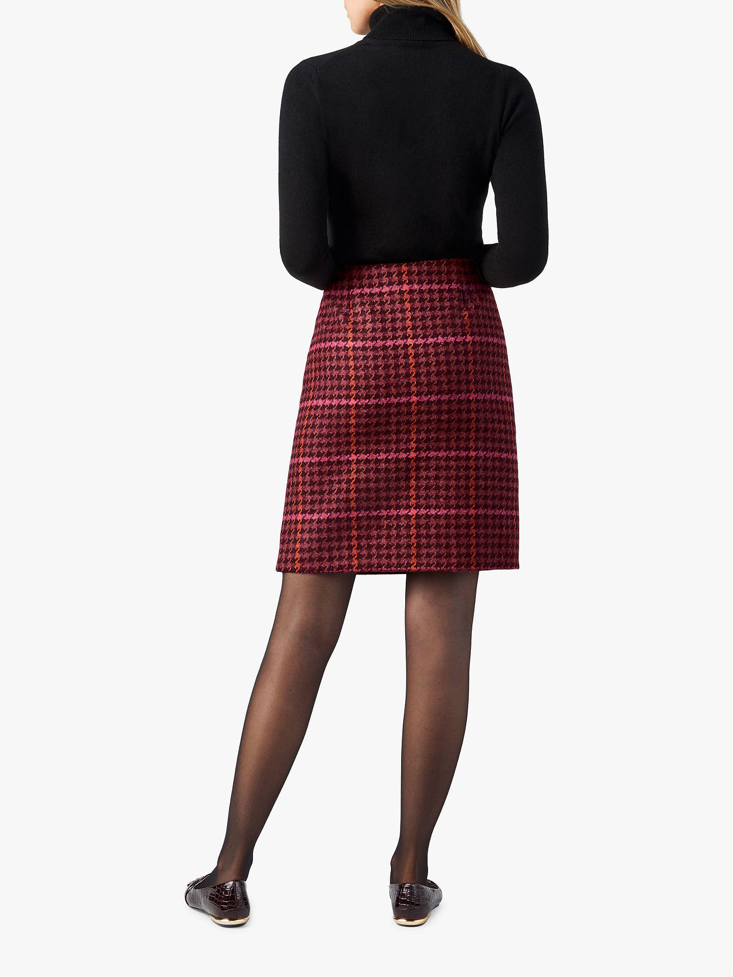 Buy Pure Collection Dogtooth A-Line Skirt , Orange, 20 Online at johnlewis.com