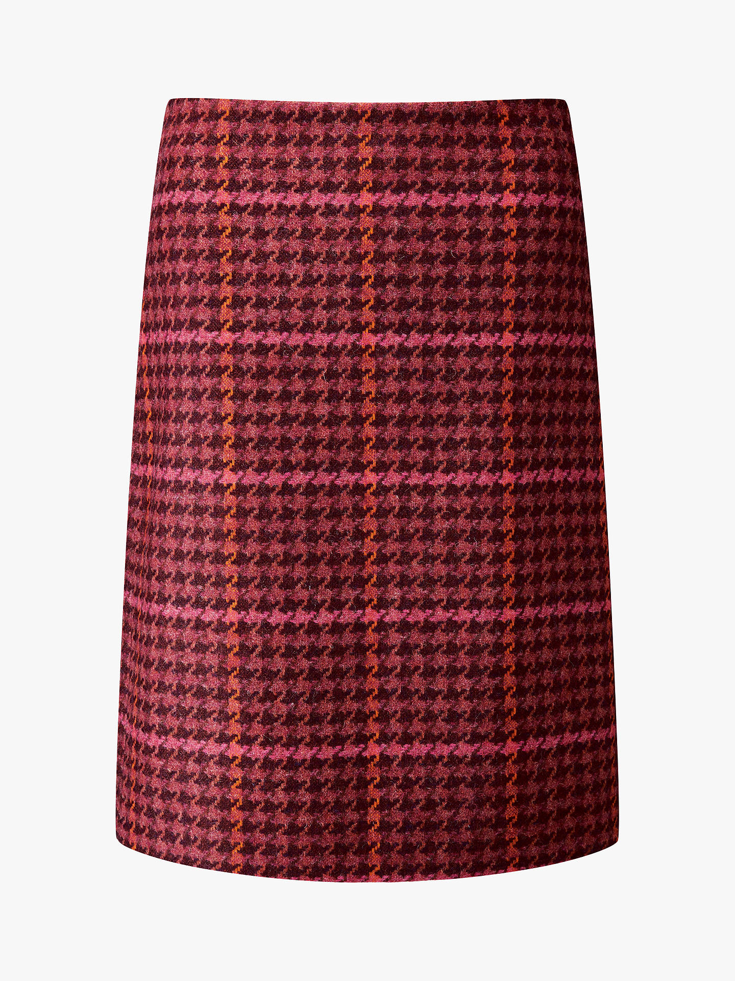 Buy Pure Collection Dogtooth A-Line Skirt , Orange, 12 Online at johnlewis.com