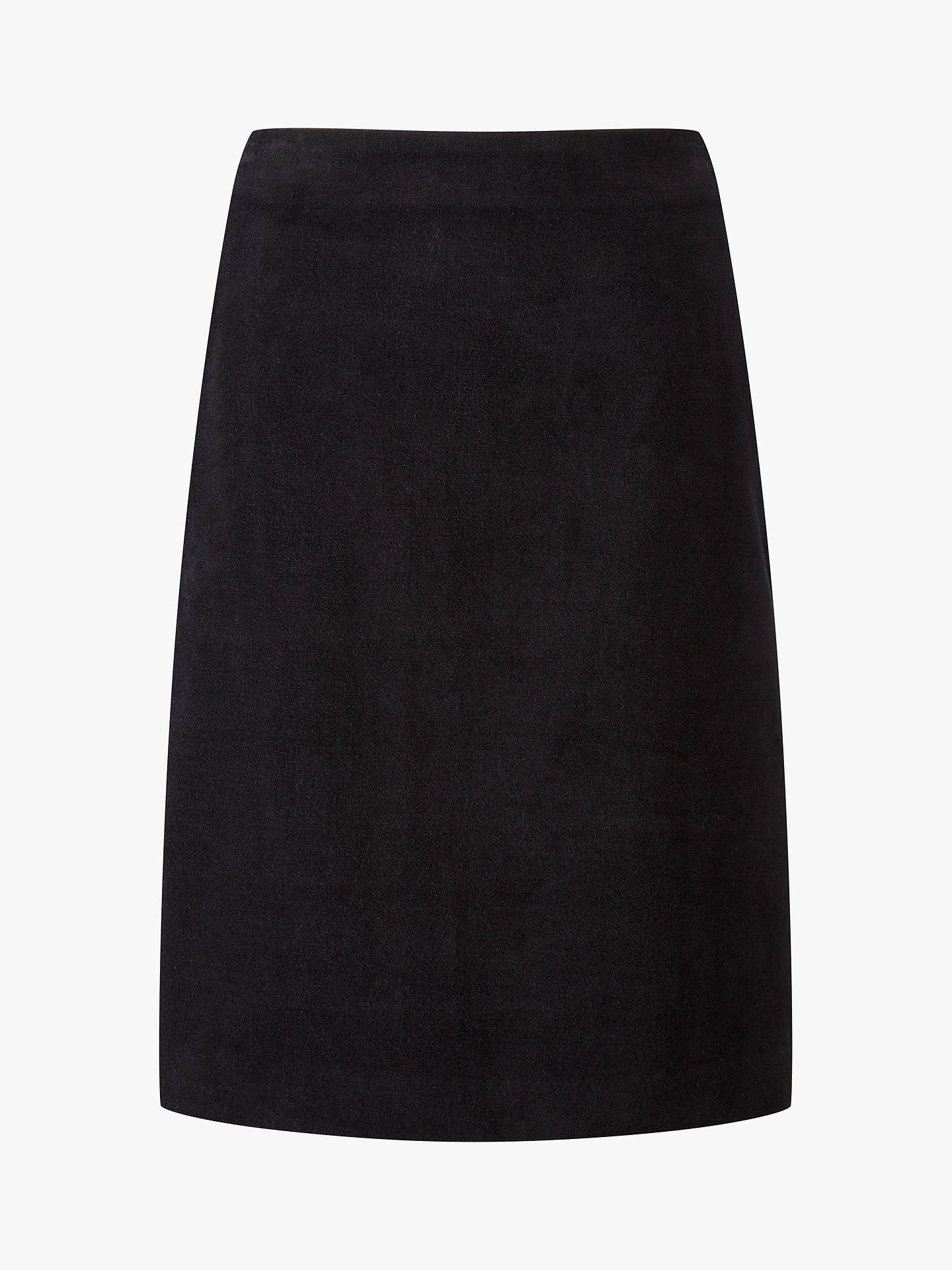 Buy Pure Collection A-Line Skirt, Black, 12 Online at johnlewis.com