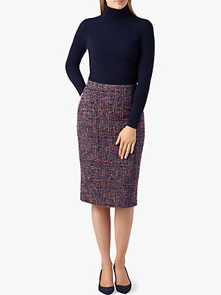 Pure Collection Tweed Pencil Skirt, Multi