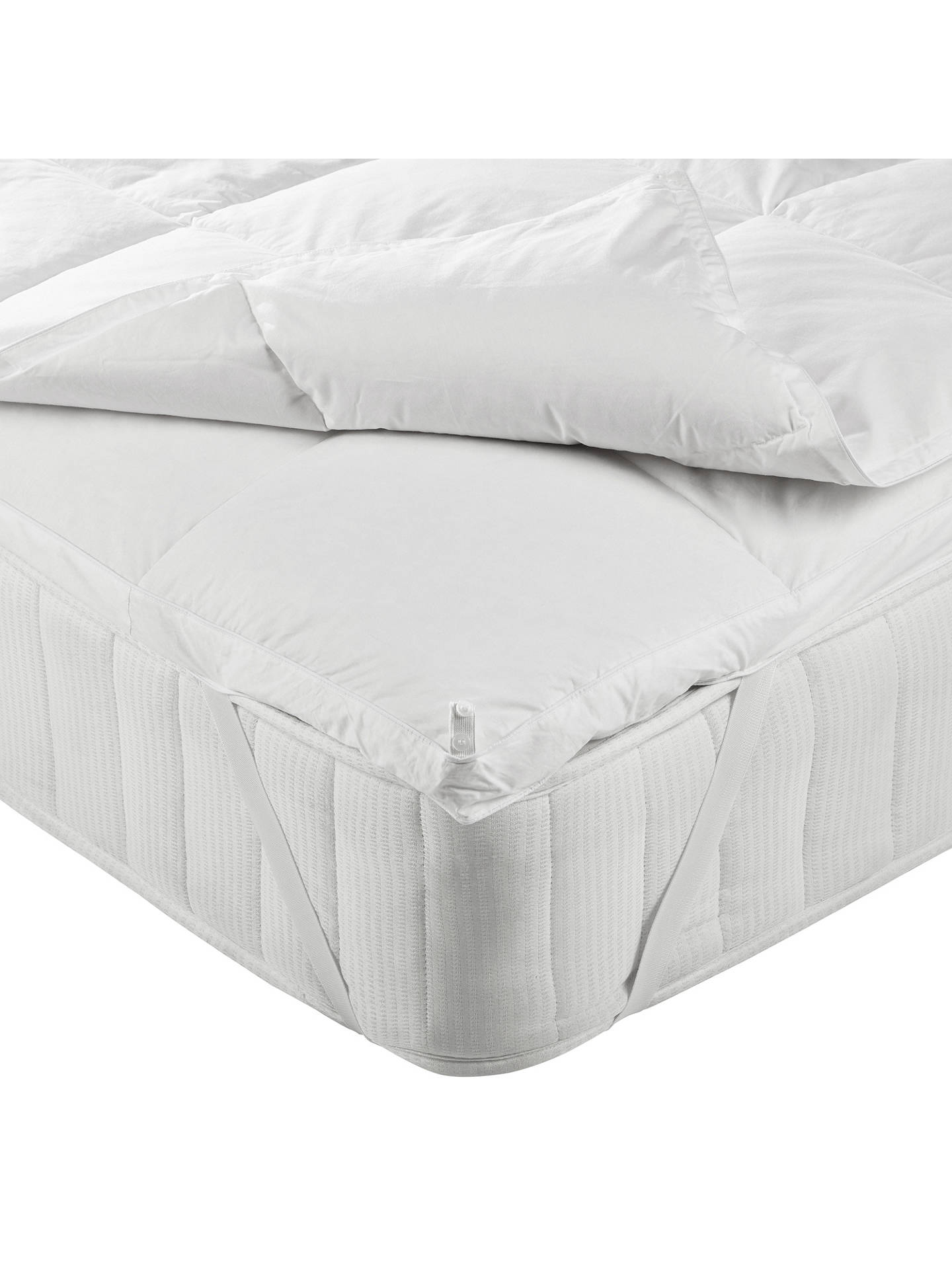 Buy John Lewis & Partners Natural Goose Down 5cm Deep Mattress Topper, Single Online at johnlewis.com