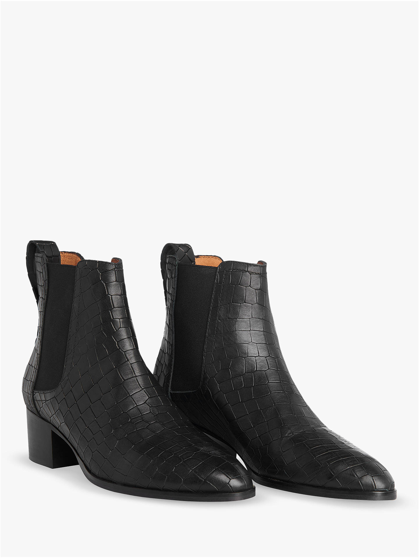 BuyWhistles Daisley Croc Chelsea Boots, Black, 4 Online at johnlewis.com