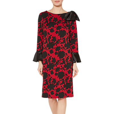Image of Gina Bacconi Theresa Scuba Dress, Red