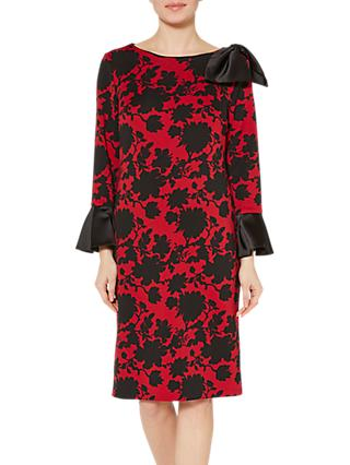 Gina Bacconi Theresa Scuba Dress, Red