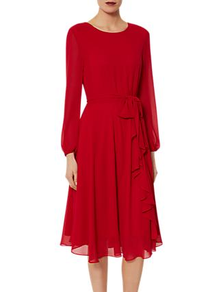 Gina Bacconi Page Long Sleeve Chiffon Dress