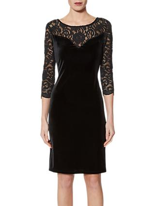 Gina Bacconi Agneta Velvet Dress, Black