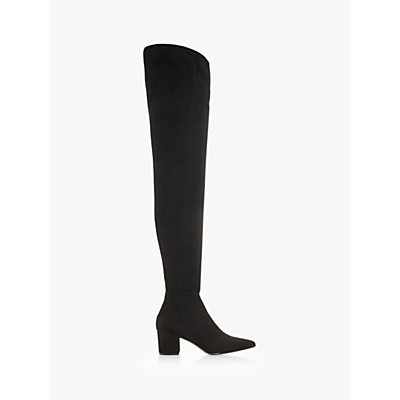 Steve Madden Bolted Block Heel Over The Knee Boots, Black