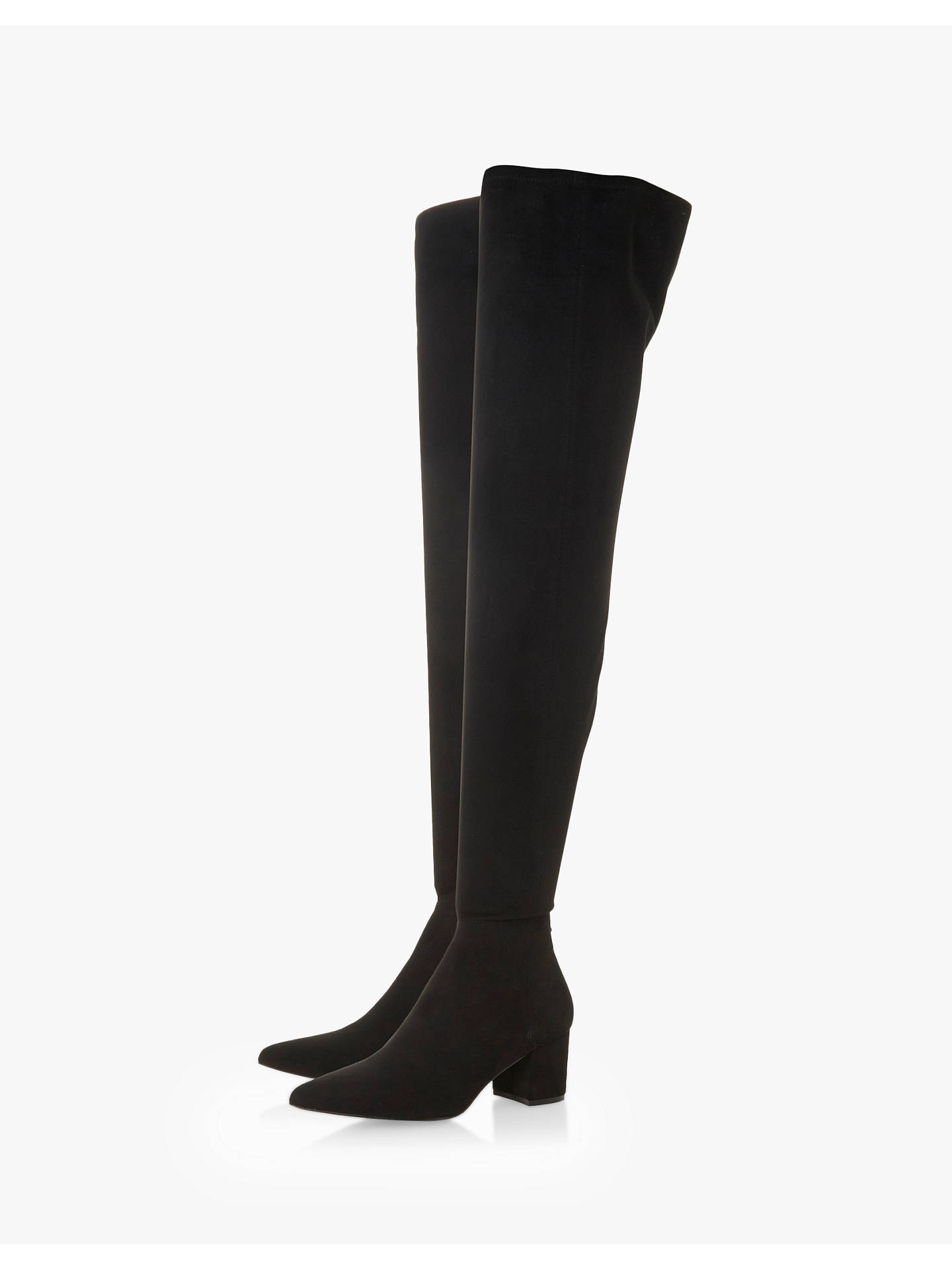 BuySteve Madden Bolted Block Heel Over The Knee Boots, Black, 3 Online at johnlewis.com