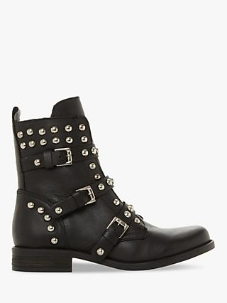Steve Madden Spunky Ankle Boots, Black Leather