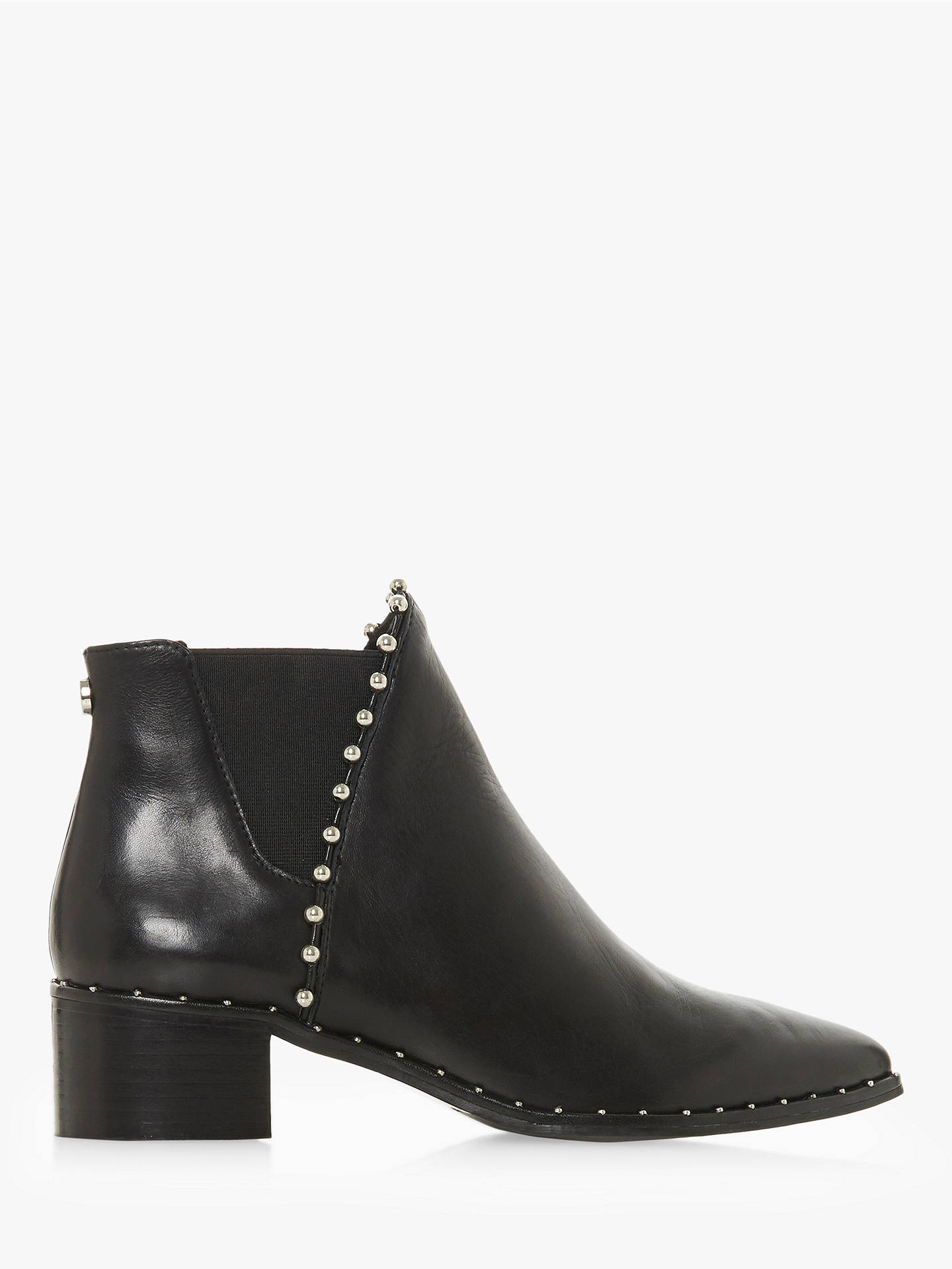 fcf9f854ac5 Steve Madden Floruss Studded Ankle Chelsea Boots, Black Leather at ...