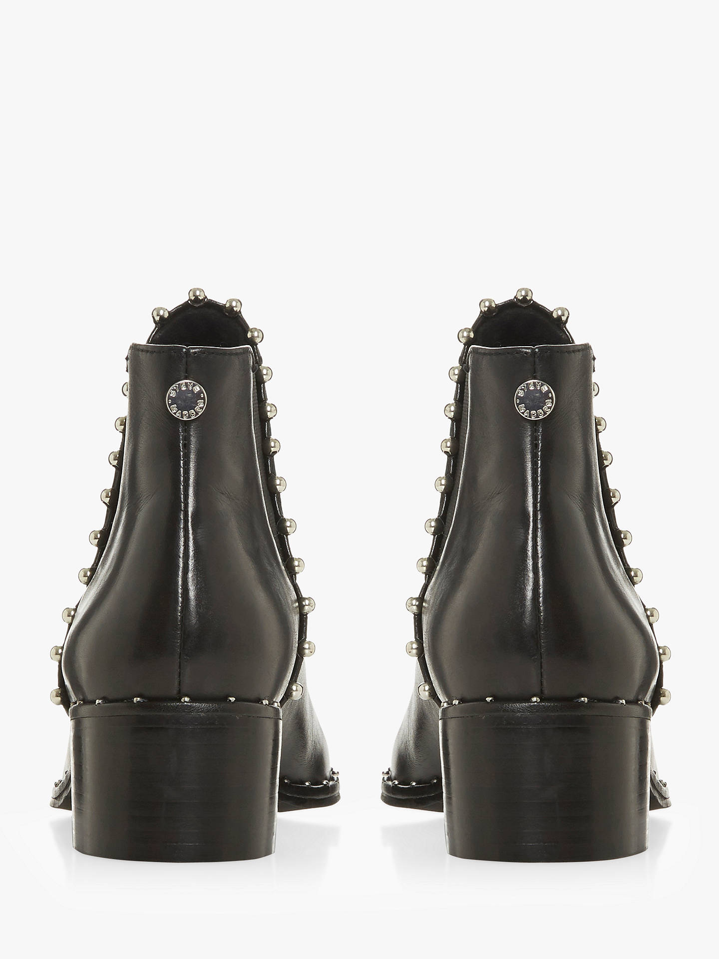 8c99b7da4e2 Steve Madden Floruss Studded Ankle Chelsea Boots, Black Leather at ...
