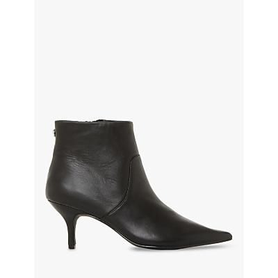 Steve Madden Rome Stiletto Heel Ankle Boots, Black Leather