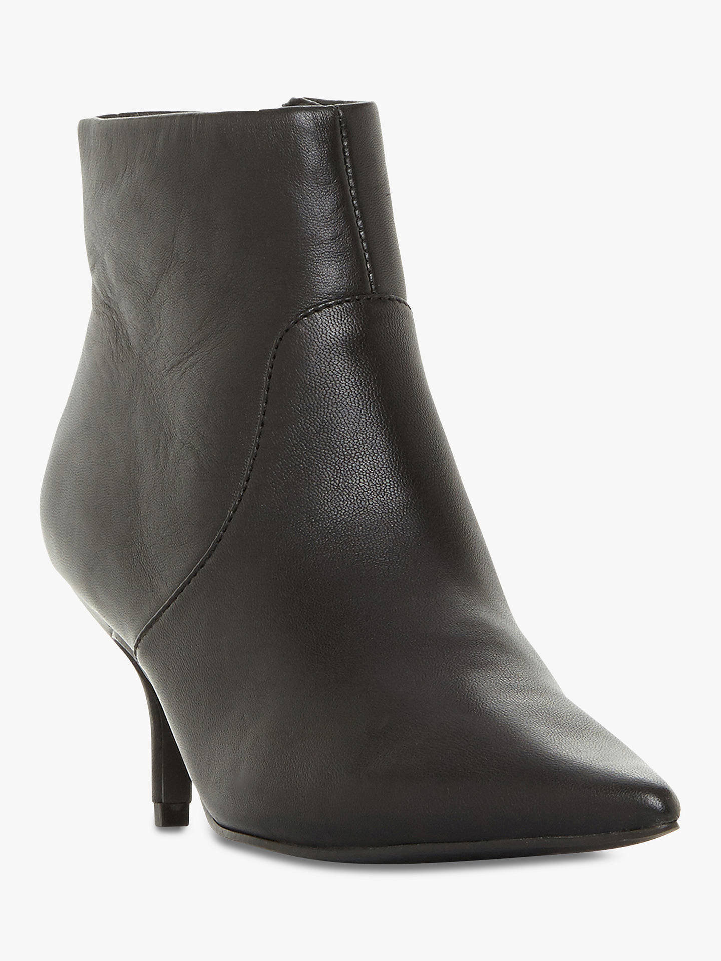 Buy Steve Madden Rome Stiletto Heel Ankle Boots, Black Leather, 4 Online at johnlewis.com