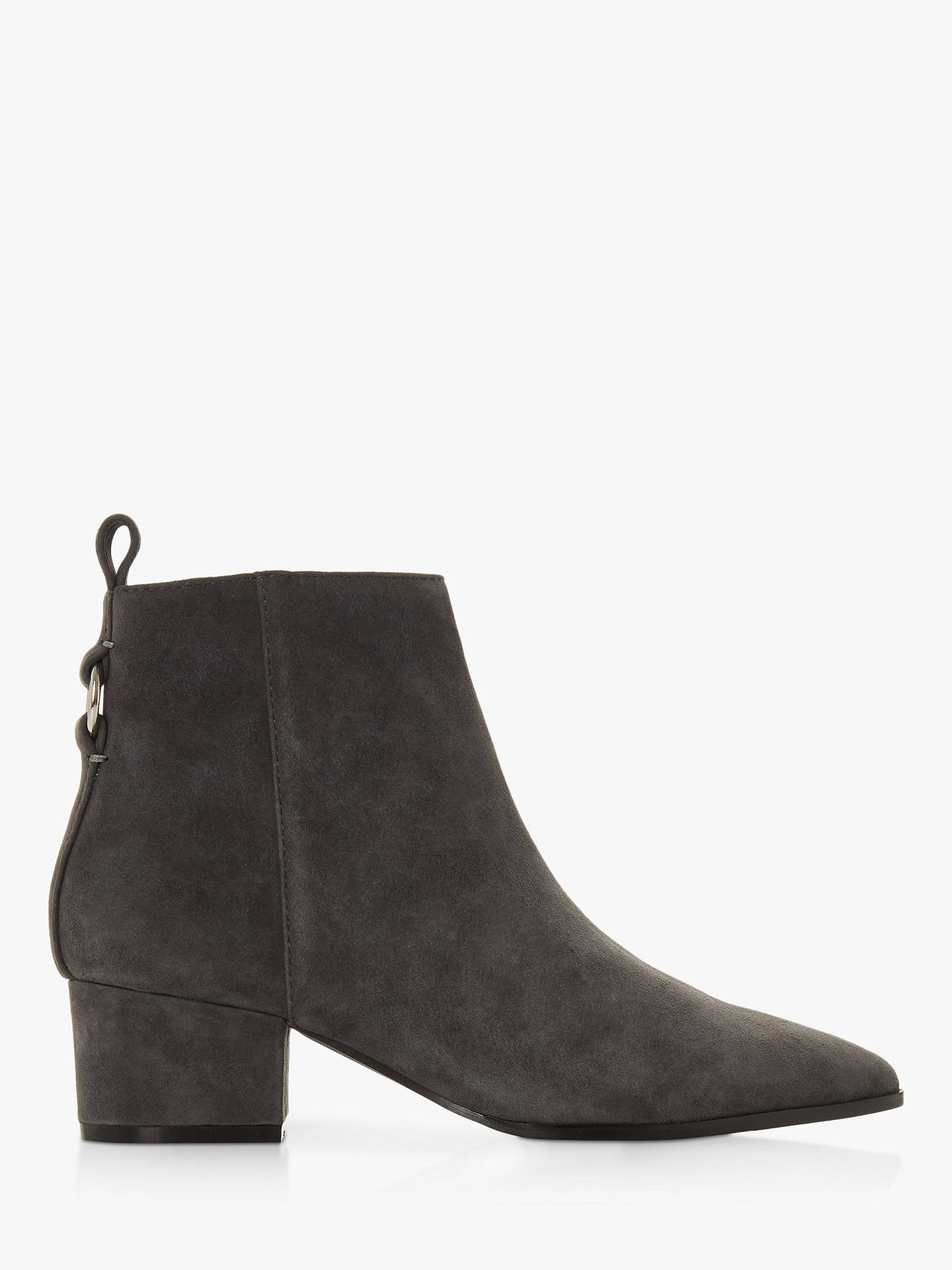 BuySteve Madden Clover Side Zip Ankle Boots, Grey Suede, 3 Online at johnlewis.com