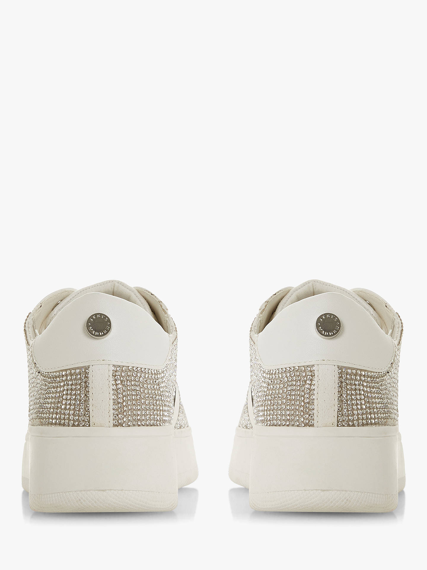 BuySteve Madden Belle-R Embellished Lace Up Trainers, Silver Diamante, 3 Online at johnlewis.com