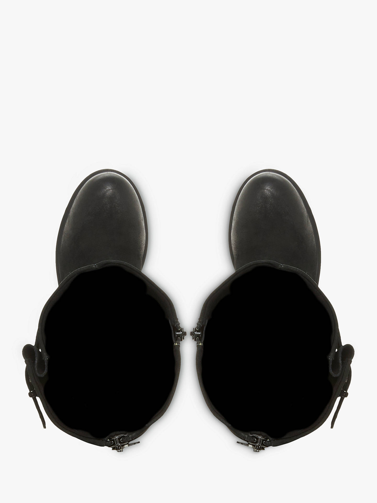 Buy Steve Madden Weden Buckle Detail Knee High Boots, Black Nubuck, 7 Online at johnlewis.com