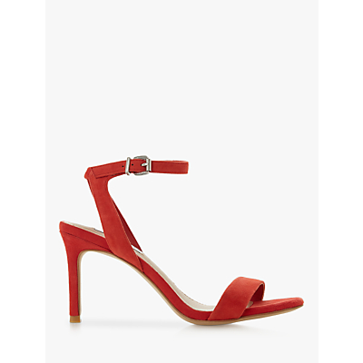 Steve Madden Faith Ankle Strap Heels, Red Suede