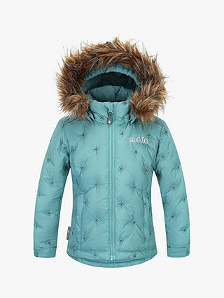 Buy Skogstad Slottet Girls' Down Padded Jacket, Bristol Blue, 3 years Online at johnlewis.com