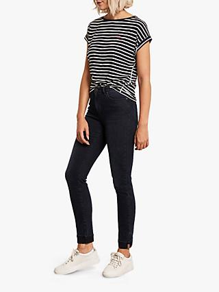 Mint Velvet Houston Turn Up Jeans, Dark Blue