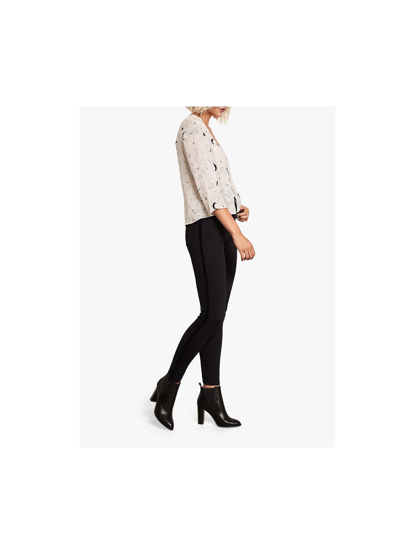 25bf8bd10c2 Buy Mint Velvet Maryland Velvet Side Stripe Jeans, Black, 10R Online at  johnlewis.