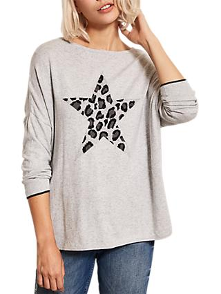 Mint Velvet Animal Star Knit Jumper, Multi