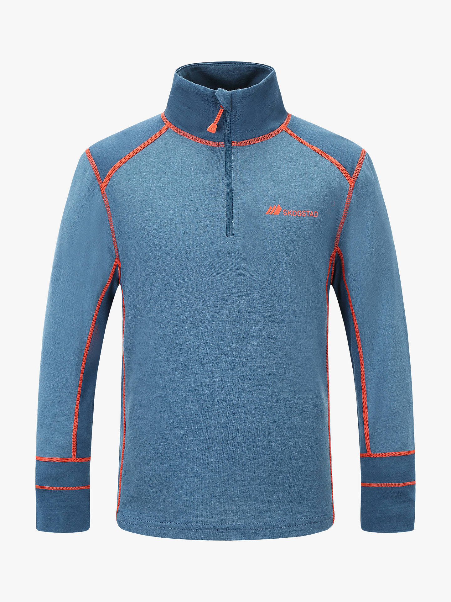Buy Skogstad Boys' Merino Thermal Top, Blue Teal, 12 years Online at johnlewis.com